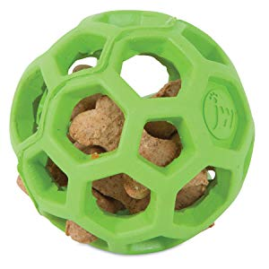 hollow treat ball for dogs