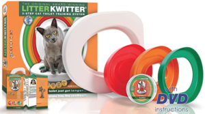 Cat Toilet Training System By Litter Kwitter - Teach Your Cat to Use the Toilet - US