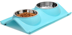 Double Dog Bowls Stainless Steel with no-spill station