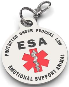 Emotional Support Animal Dog ESA ID tag