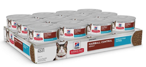Hill's Science Diet Wet Cat Food, Adult, Hairball Control