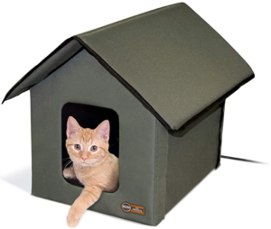 Outdoor Heated Kitty House Cat Shelter