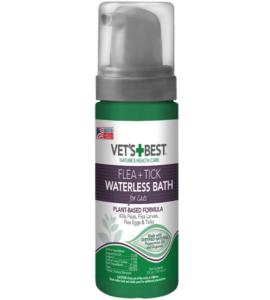 Vet's Best Flea and Tick Waterless Bath Foam for Cats