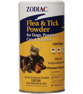 Zodiac Flea & Tick Powder for Dogs, Puppies, Cats, and Kittens