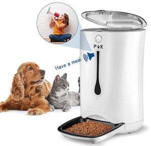 automatic dog feeder with voice recorder