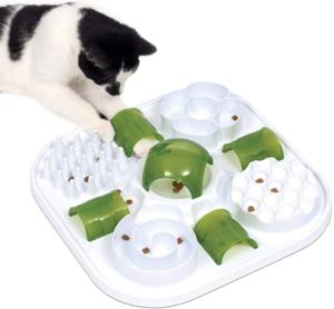 cat puzzle treat toy