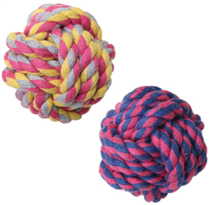 dog rope toy ball