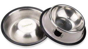 stainless steel metal cat feeding bowls