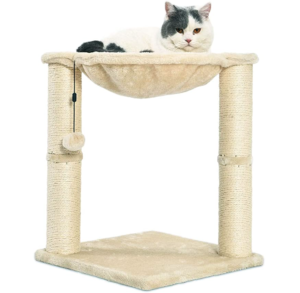 small Cat Condo Tree Tower with Hammock Bed and Scratching Post