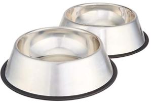 stainless steel metal dog bowl