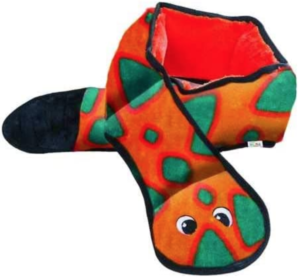 Stuffingless squeaker dog toy